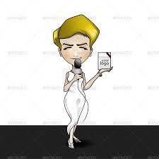 animatable business woman cartoon character kit by avoltha