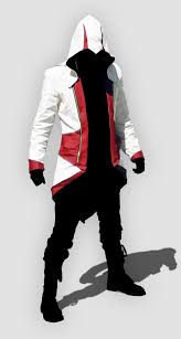 assassin u0027s creed iii connor red and white jacket cosplay costume