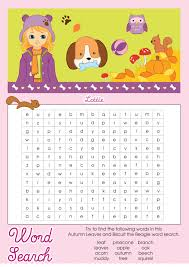 fall word search for activity shelter educative puzzle