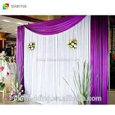 wedding backdrop material wedding backdrop drape curtain silk material with swag on top