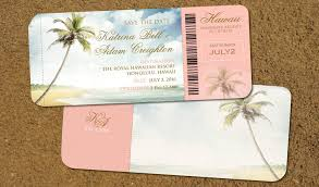 destination wedding invitations hawaii boarding pass save the dates destination wedding