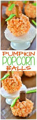 pumpkin popcorn balls on timeout