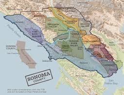 Sonoma California Map Wine Growing Regions Sonomawine Com