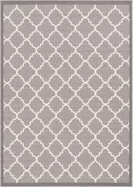 White Modern Rug Dallas Moroccan Trellis Grey And White Casual Modern Trellis Mat