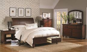 king size bed with sleigh headboard u0026 drawer storage footboard by