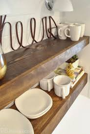 Kitchen Floating Shelves by Pbjstories Our Diy Open Kitchen Shelves Pbjreno