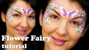 easy flower fairy makeup face painting tutorial for beginners you