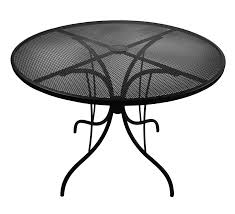 Mesh Wrought Iron Patio Furniture by Outdoor Solid Steel And Steel Mesh Table Tops