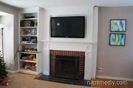 How To Build Fireplace Mantel Shelf - fireplace mantel reveal naptime diy