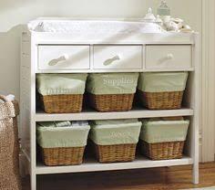 Changing Table Storage Baskets Wicker Storage Chest Baskets Organizer Furniture Wood Cabinet