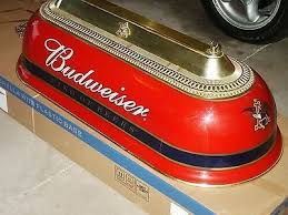 vintage budweiser pool table light awesome budweiser anheuser busch king of beers pool table light