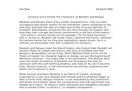 compare and contrast the characters of macbeth and banquo gcse