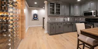 wire brushed white oak kitchen cabinets mhp custom handcrafted hardwood flooring by mount planing
