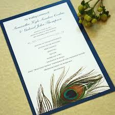 peacock wedding programs peacock feather wedding program set of 20