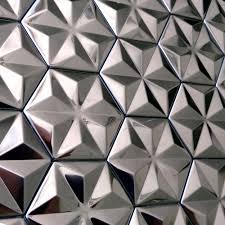 metal kitchen backsplash tiles self adhesive silver snowflake design stainless steel metal mosaic