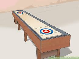 Shuffle Board Tables How To Make A Shuffleboard Table With Pictures Wikihow