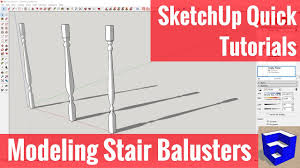 creating stair balusters in sketchup with the follow me tool youtube