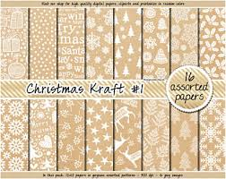 christmas kraft wrapping paper kraft wrapping paper etsy