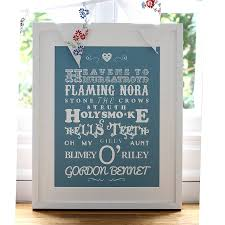 personalised sayings and phrases print by mimi mae