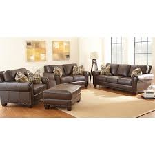 Silver Leather Sofa by Steve Silver Company Escher Coffee Bean Leather Sofa Set The