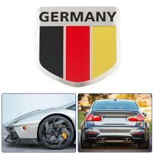 Car Window Flags 2016 New Universal German Flag Pattern Shield Shape Stickers Decal