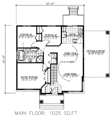 32x 32 first floor plan of contemporary house plan 50315 cabin