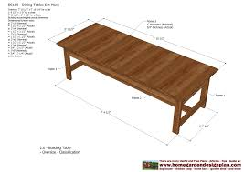 Free Plans For Patio Table by Amazing Dining Room Table Plans Free 15 For Patio Dining Table