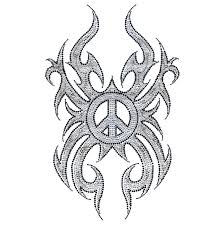s5224 peace sign with tribal wings designer looks isaacs designs