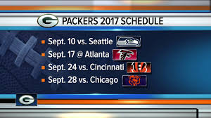 2017 nfl schedule release nfl releases complete 2017 green bay packers schedule youtube