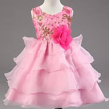 children dresses princess evening pink dress