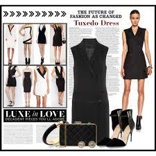 tuxedo dress polyvore