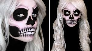 Half Skull Halloween Makeup by Half Clown Half Skull Makeup Images