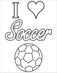 Soccer Coloring Page I Love Soccer Coloring Pages Get Coloring Pages
