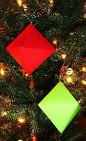 make 3d ornaments in math class from learning ideas grades k 8