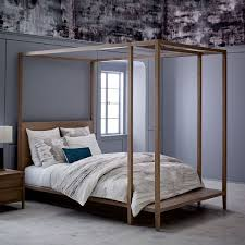 Bed Frame With Canopy Mesa Canopy Bed West Elm