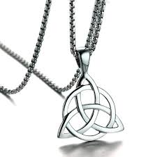 knot pendant necklace images Mens necklaces irish celtic trinitys knot pendant necklace in jpg