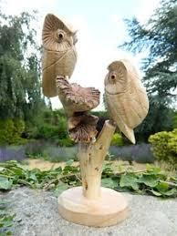 owl wood carving ebay