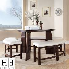 Leather Bench Seat Cushions Triangle Dining Table With Bench Chocolate Linen Window Curtains