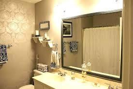 How To Frame A Bathroom Mirror Framed Bathroom Mirror Akapello