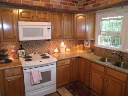 ceramic tile countertops honey oak kitchen cabinets lighting