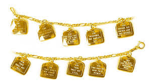gold chain charm bracelet images Gold ten commandments charm bracelet 3044 gif