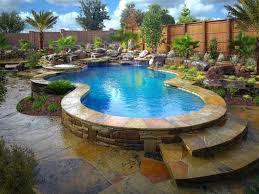Inground Pool Designs by Custom Swimming Pool Designs Swimming Pool Landscaping Ideas