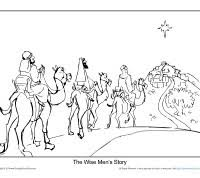 christmas coloring page printable sheet the wise men u0027s story