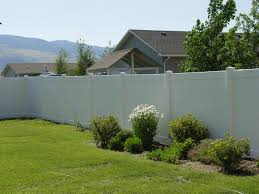 beautiful white fence garden and yard pinterest vinyl fence
