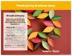 thanksgiving class ideas