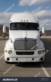 luxury semi trucks front view white semi tractor trailer stock photo 1102293