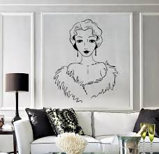 popular beauty salon designs wall stickers buy cheap beautiful woman vinyl wall stickers retro style beauty salon decor decal artistic design wallpaper new
