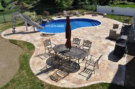Pool And Patio Decor Decor U0026 Tips Inspiring Outdoor Tile Ideas With Travertine Pavers