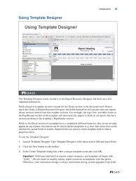 cognos report design document template mfg pro qad reporting framework document guide