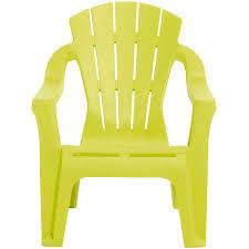 chaise de jardin fauteuil de jardin plastique pour enfant vert anis mobilier de